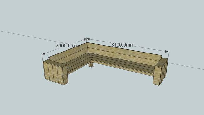 Afbeeldingsresultaat voor zelf steigerhouten hoekbank maken met