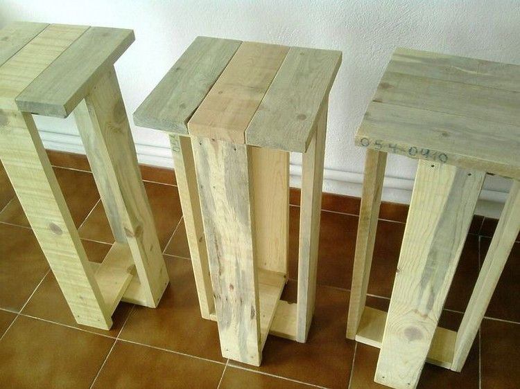 Recycled Pallet Stools Palet Ideas Pinte