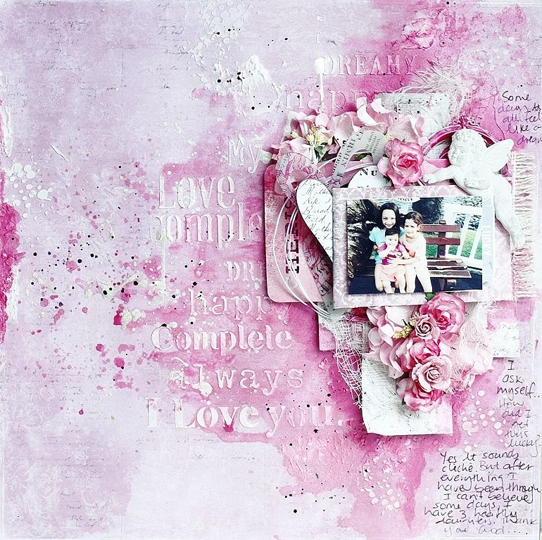 A pink layout with Sofiero | Official blog of MajaDesign Nadia Cannizzo