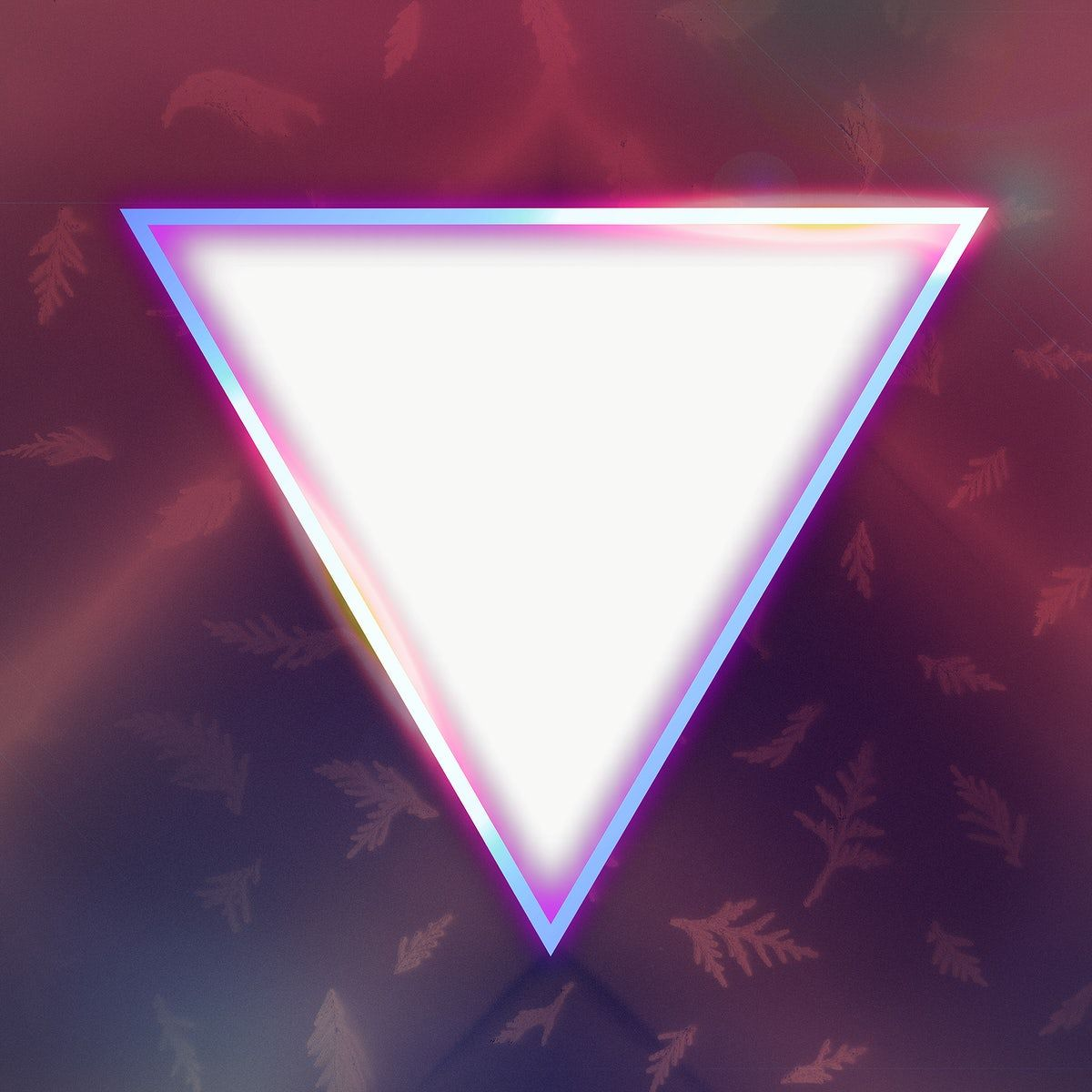 Neon Glowing Triangle Frame Design Element Free Image By Rawpixel Com Frame Design Design Element Triangle