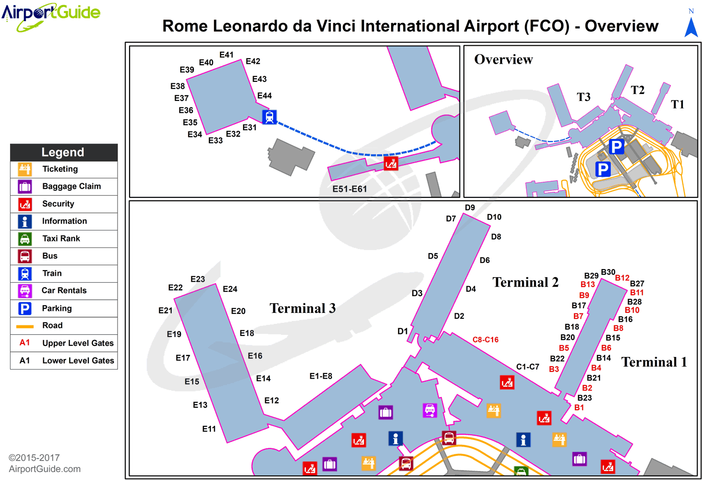 Fco Airport Map Rome   Leonardo Da Vinci (Fiumicino) International (FCO) Airport  Fco Airport Map