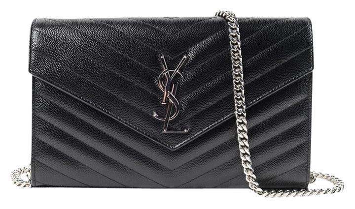 f1f87d2b70 Saint Laurent Ysl Monogram Quilted Leather Envelope Wallet-on-chain Clutch  Black Cross Body Bag. Get the trendiest Cross Body Bag of the season!