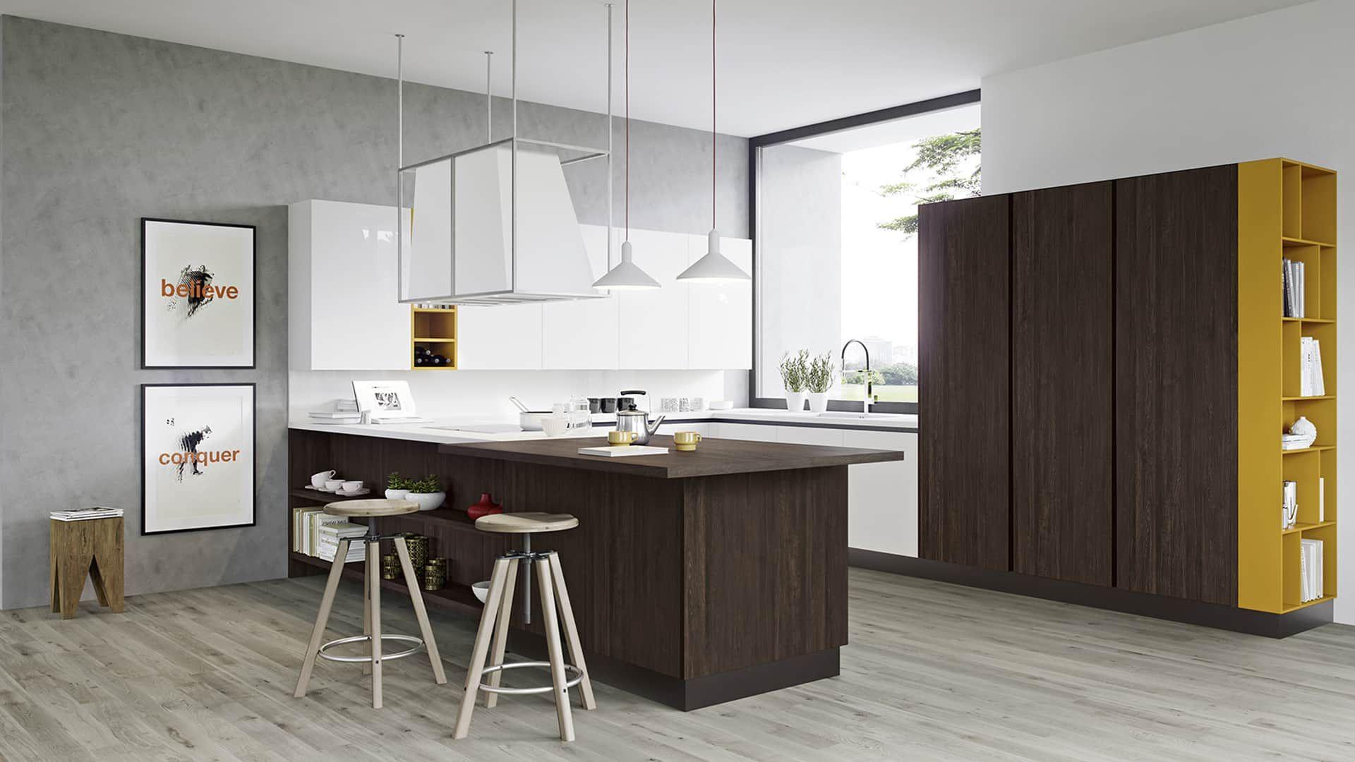 Cucine moderne con penisola a padova trova la tua cucina con penisola da arredamenti meneghello - Cucine a padova ...