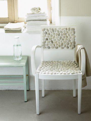 Pebble mosaic chair