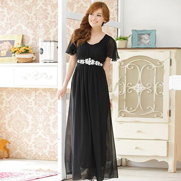 asian long evening dress wholesale k9200 Black - http://www ...