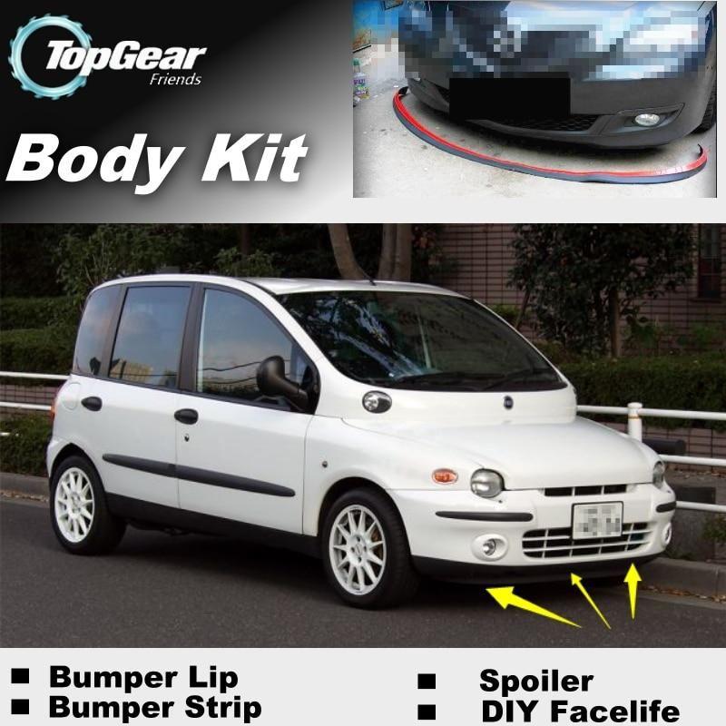 Bumper Lip Deflector Lips For Fiat Multipla Front Spoiler Skirt