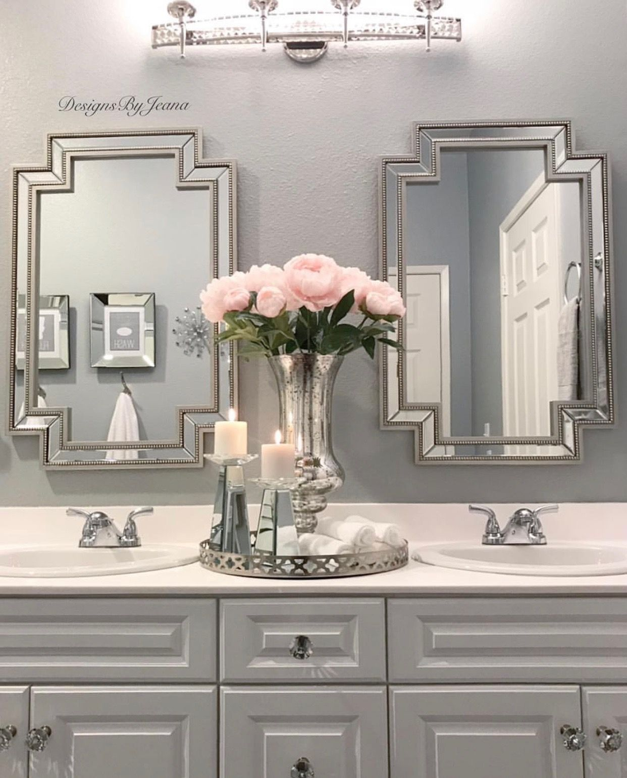 Blue And White Bathroom Accessories Navy And White Bathroom Accessories Gray And Pink Bathroom Accessories Restroom Decor Glamorous Bathroom Bathroom Decor