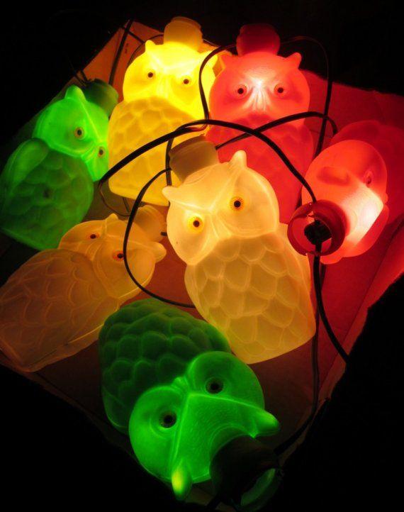 Vintage Owl Noma Patio Party Lights PartyLites By NostalgiaMama