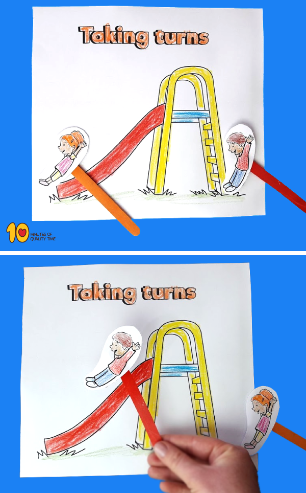 Taking Turns in the Playground – Paper Craft
