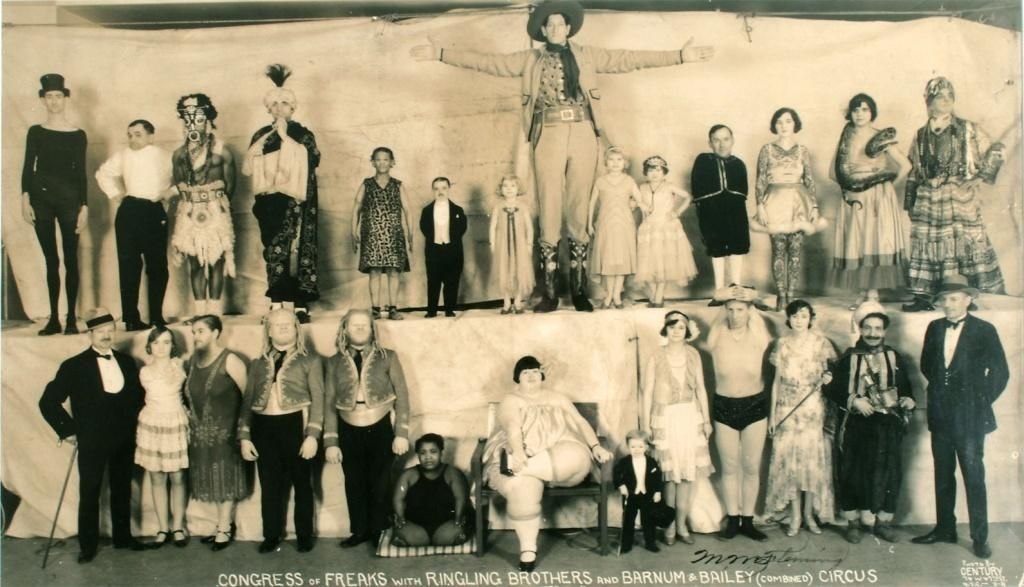 Pushnik spent six years with Ripley, but in 1943 Frieda joined the Ringling Brothers Barnum and Bailey Circus Sideshow, becoming a member of their ' Congress of Freaks'. Description from pinterest.com. I searched for this on bing.com/images
