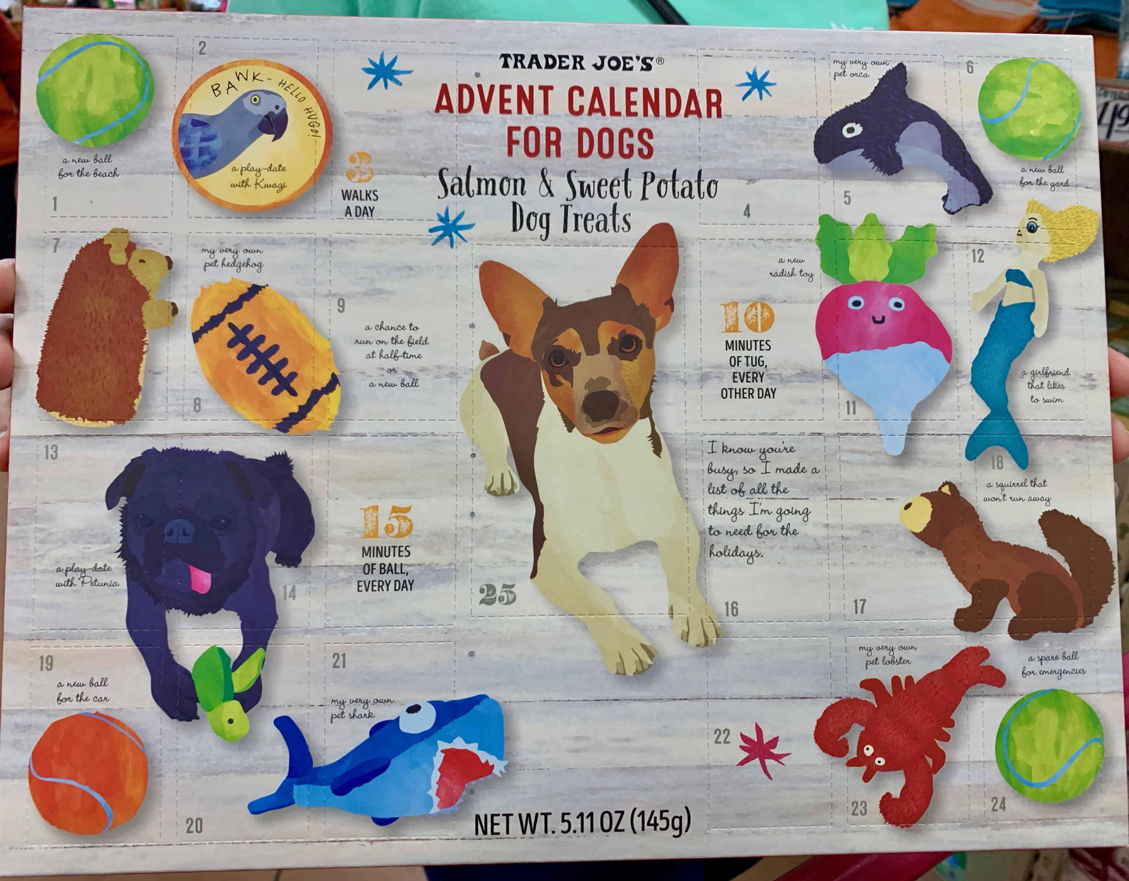 Trader Joe's Dogs Advent Calendar Dog advent calendar