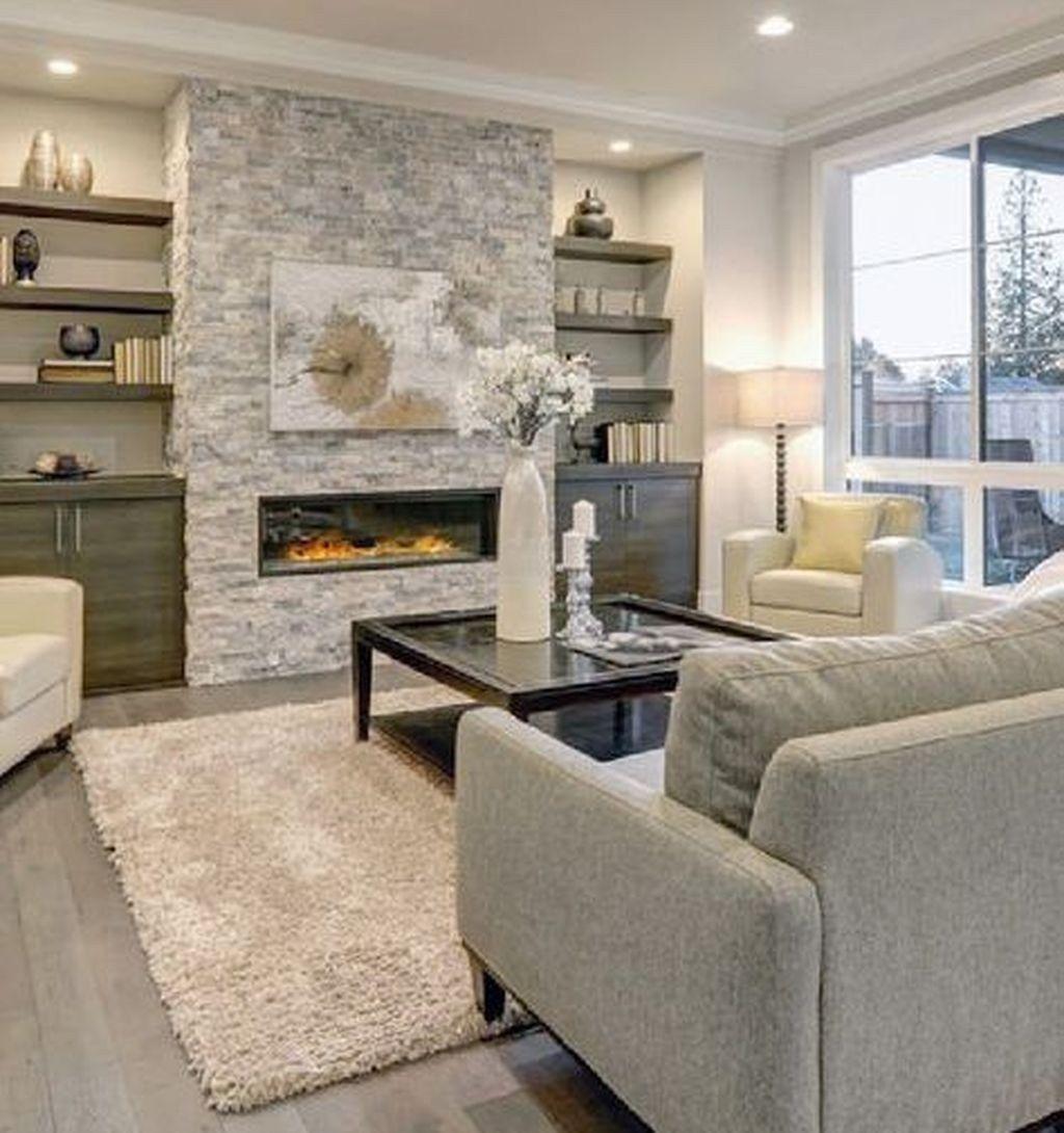 Cozy Small Living Room Decor Ideas On A Budget 17  Cheminée en