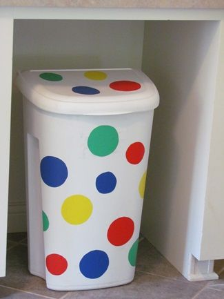 sprucing up your preschool classroom trash can