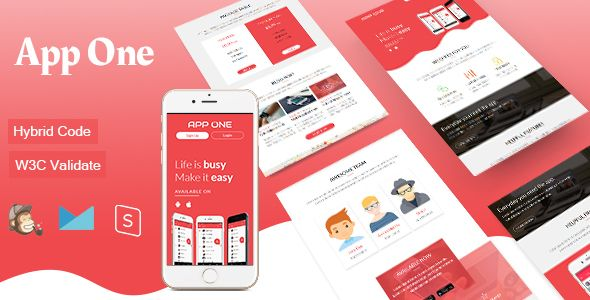 App One Mobile App Email Template Pinterest Mobile App And - Hybrid email template