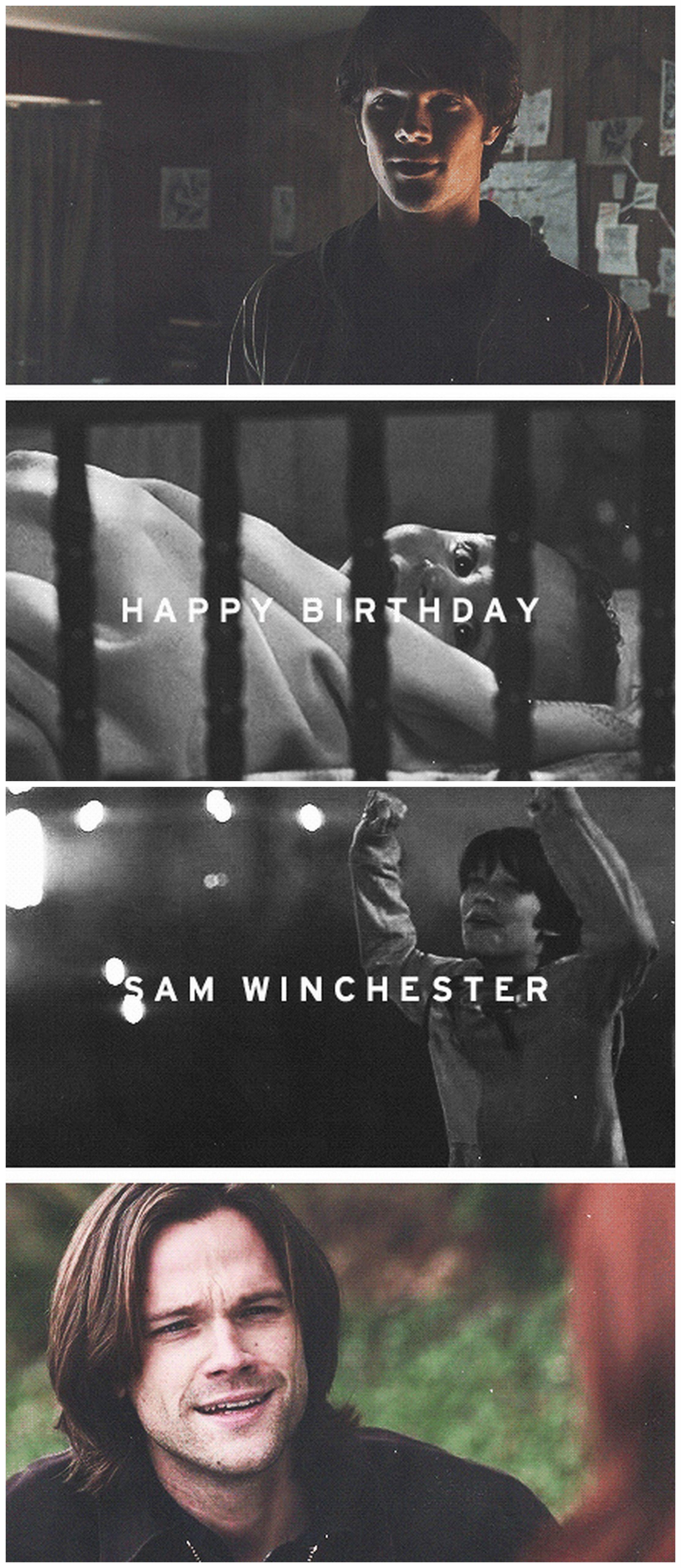 [gifset] ( May 2nd ) Happy birthday, Sam Winchester #SPN 1x01, 5x16, 8x20