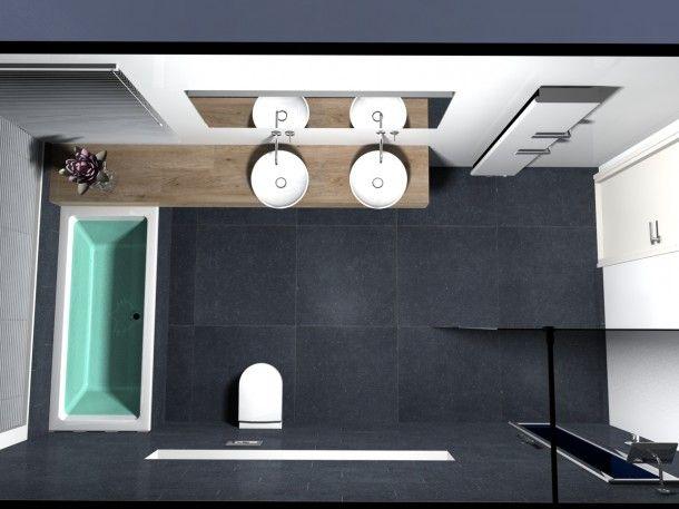 Rechthoekig Ontwerp Badkamer : Stijlvol strak en ruimtelijk. bathroom pinterest badkamer