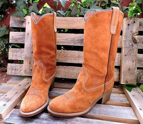 4d36f7acf78 Wolverine boots womens 7.5 / Vintage 70s cowboy boots / made in USA ...
