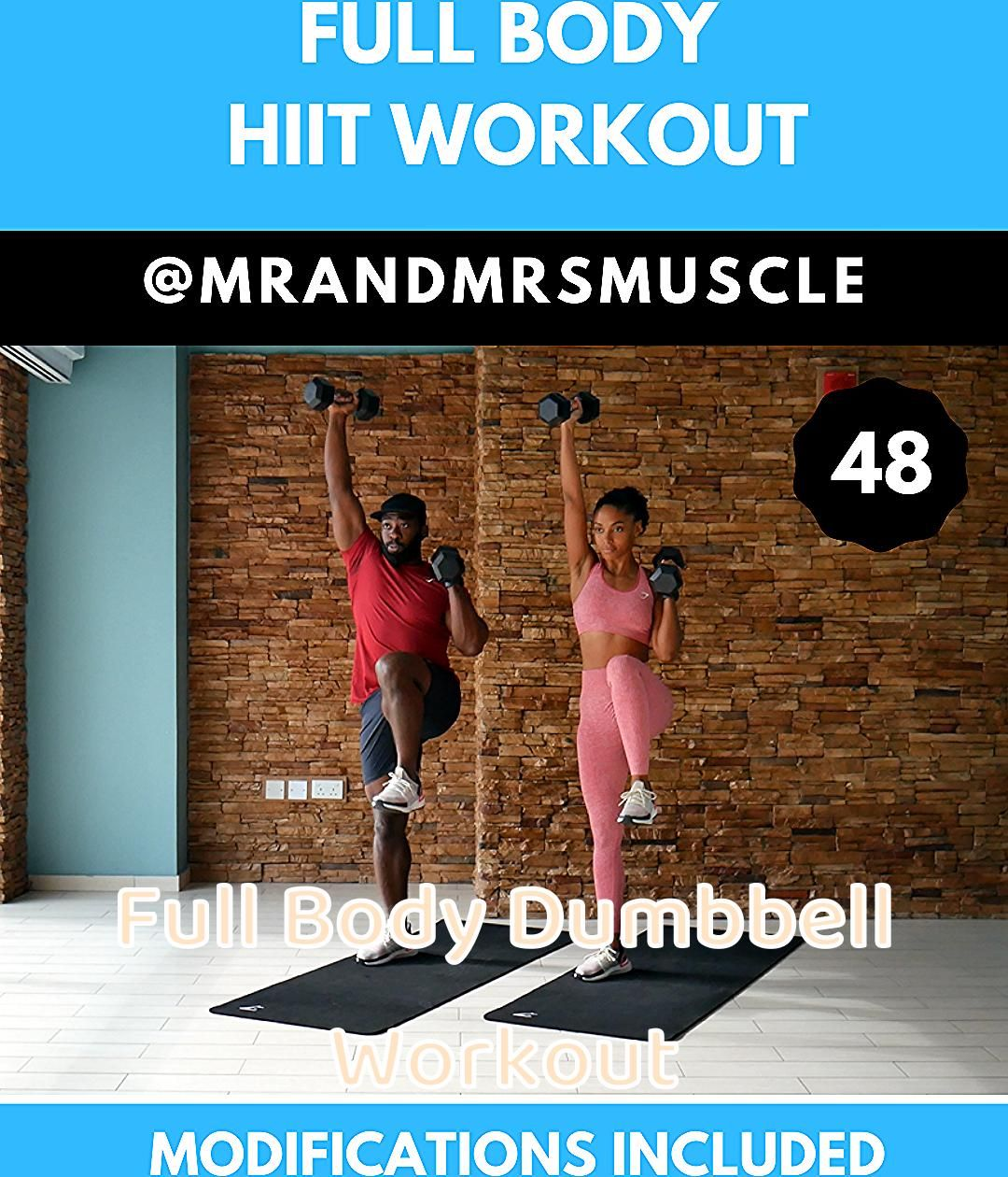 Full body dumbell exercise to tone flabby arms and build muscle in your lower body. #fullbodyworkout...