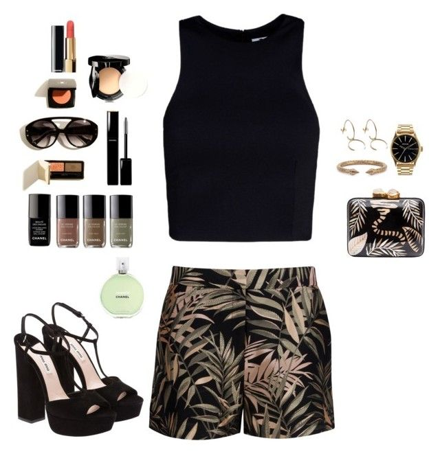 """""""Untitled #65"""" by jessica-camarero ❤ liked on Polyvore featuring Ted Baker, Chanel, Aranáz, T By Alexander Wang, Miu Miu, Vita Fede and Nixon"""