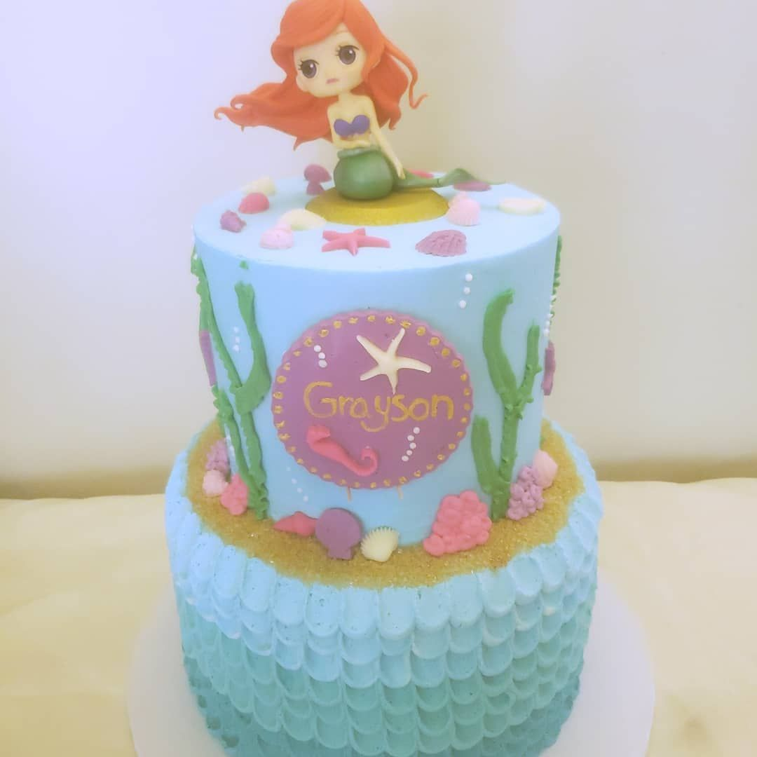 Im back!!! Finally got a new phone!!! So now I can put up pictures from the past 3 months!! Lets start with this one... Little mermaid birthday cake!!!