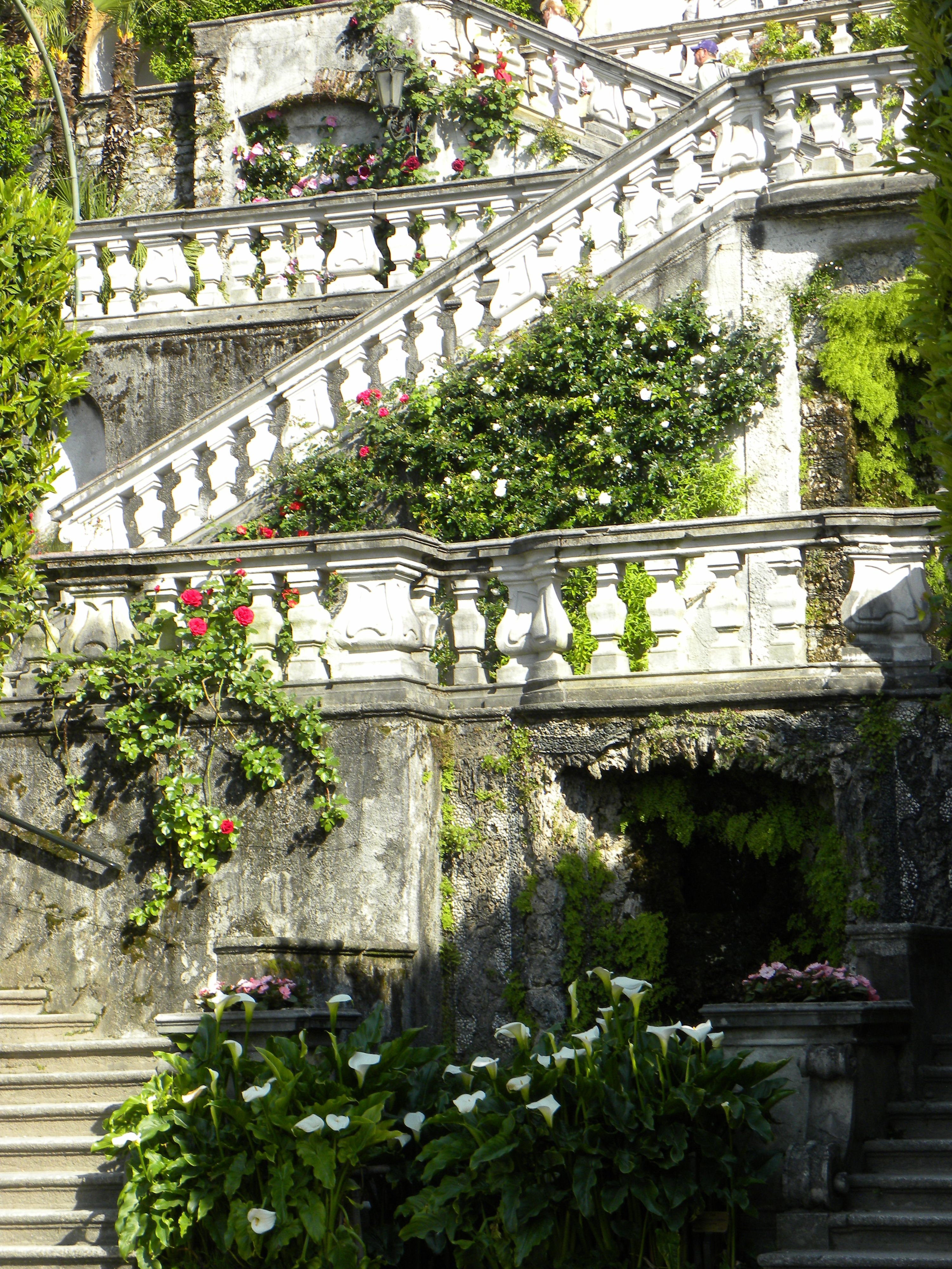 Staircase at Villa Carlotta, Tremezzo, Lake Como, Lombardy