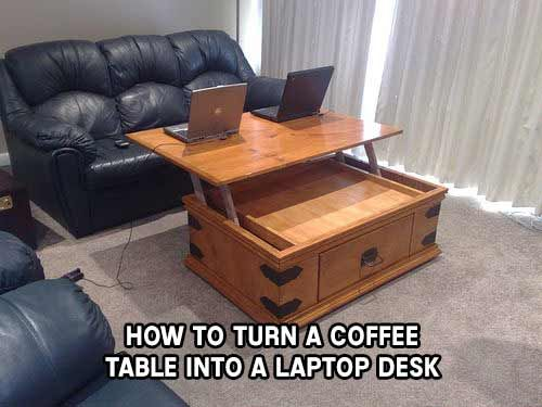 How To Turn A Coffee Table Into A Laptop Desk Coffee Table Build A Coffee Table Diy Furniture