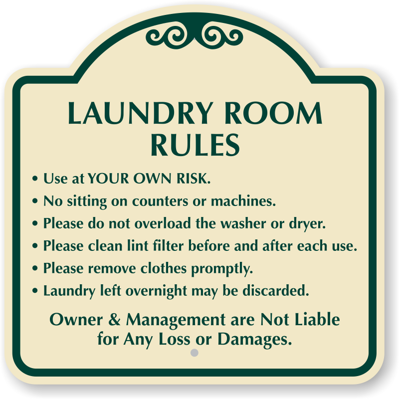 laundry room funny signs rules decorative signs for laundry room wonderful use at your own - Laundry Room Signs