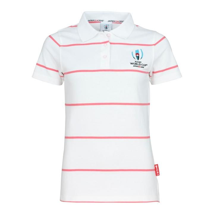 e06fa495e4f Rugby World Cup 2019 Women's Stripe Jersey Polo | White | Rugby ...