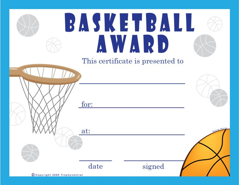 Basketball Certificates  Projects To Try