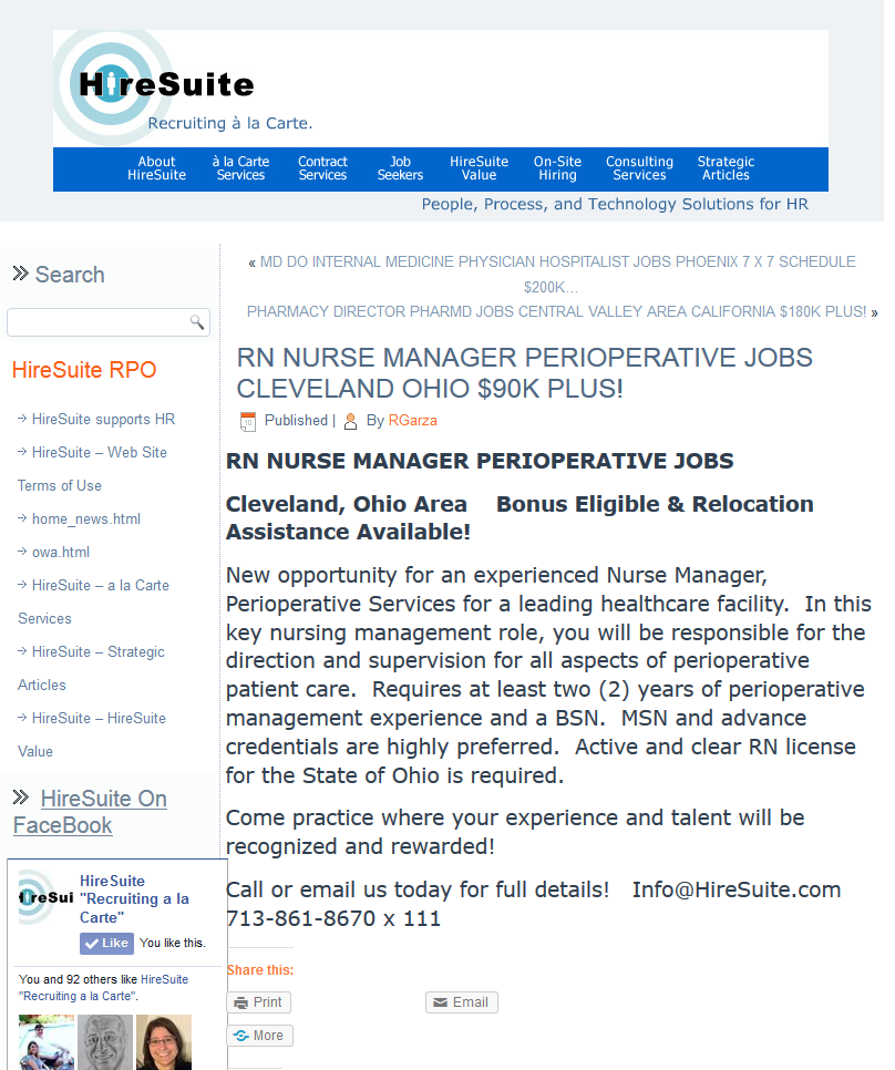 Cleveland Ohio Area Bonus Eligible Relocation Assistance Available New Opportunity For An Experienced Nurse Man Medical Jobs Nurse Manager Contract Jobs