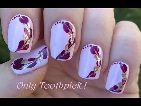 Toothpick Nail Art 6 Diy Easy Heart Shaped Design Youtube