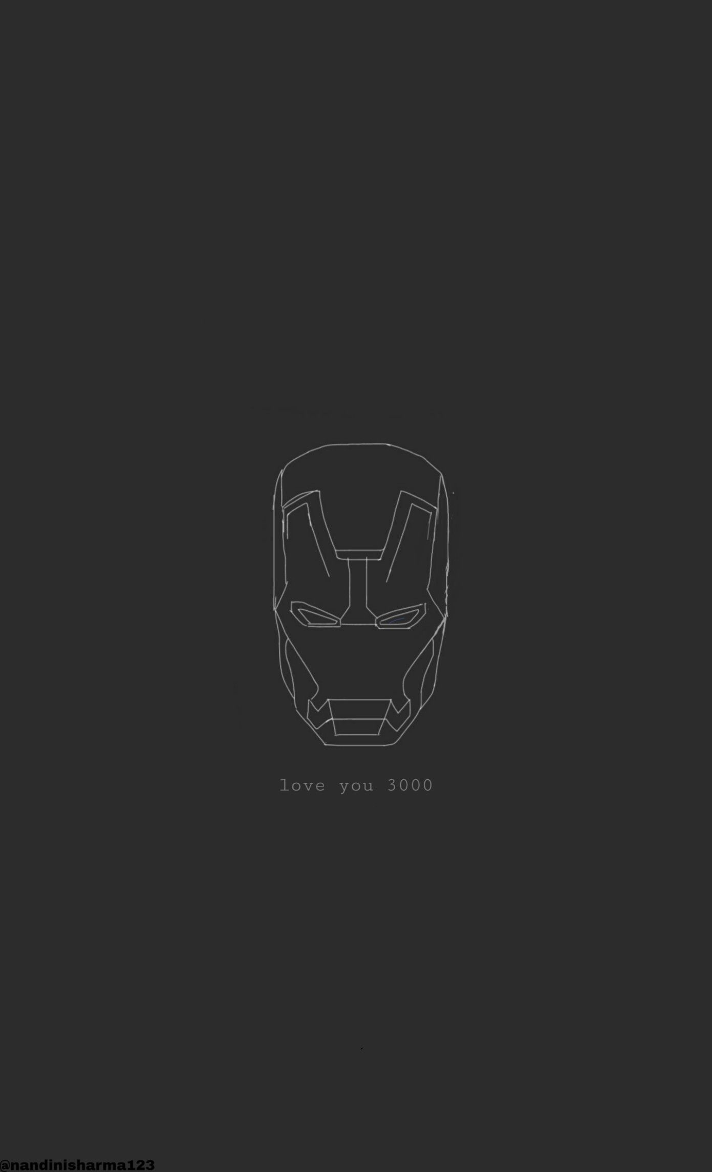 Love You 3000 Iron Man By Me Ig Nandinisharma123 Marvel