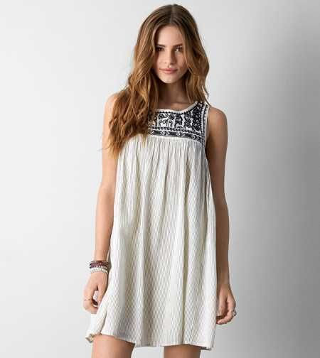 AEO Embroidered Shift Dress. A dress made for easy days, then epic ...
