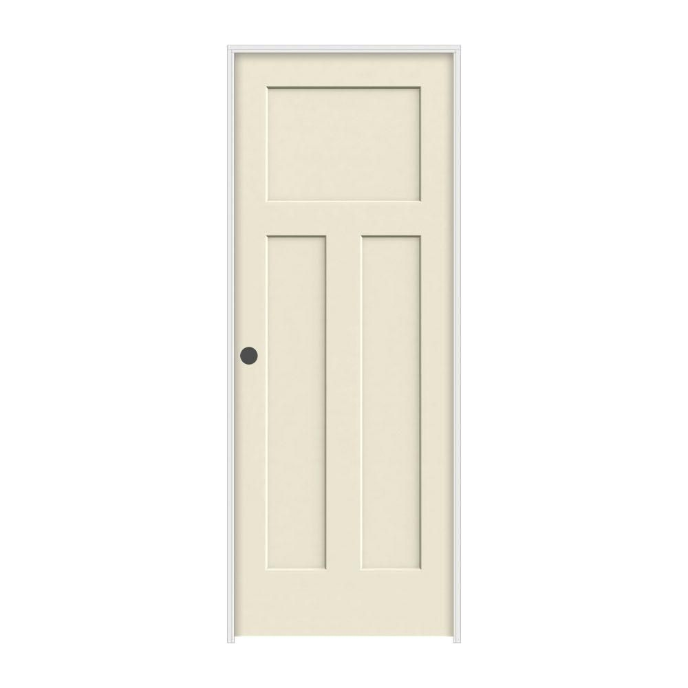 Jeld Wen 32 In X 80 In Craftsman Primed Right Hand Smooth Solid