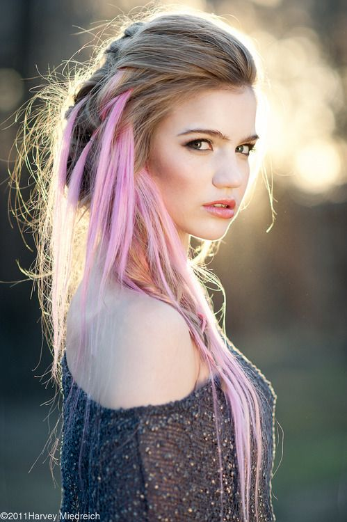 Blonde And Pink Hair Tumblr Hair Styles Pink Hair Long