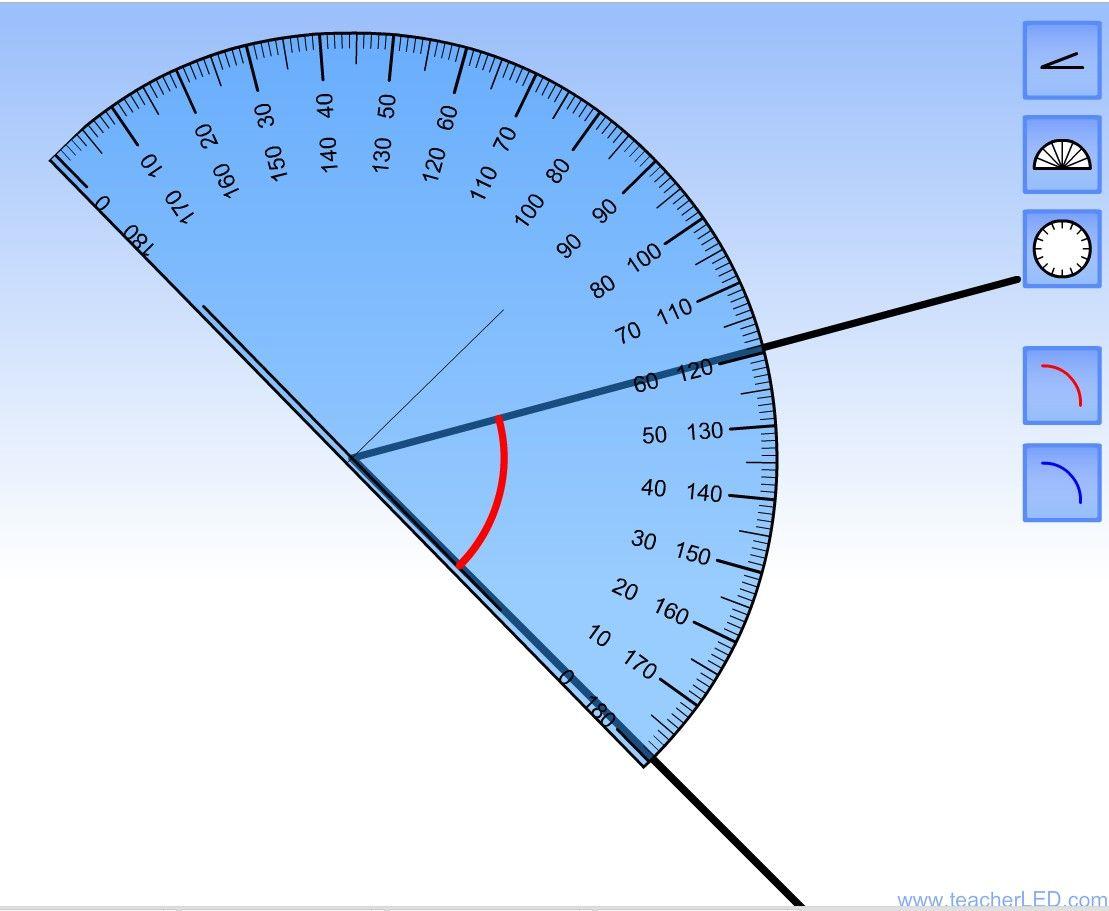 Virtual Protractor For Iwb