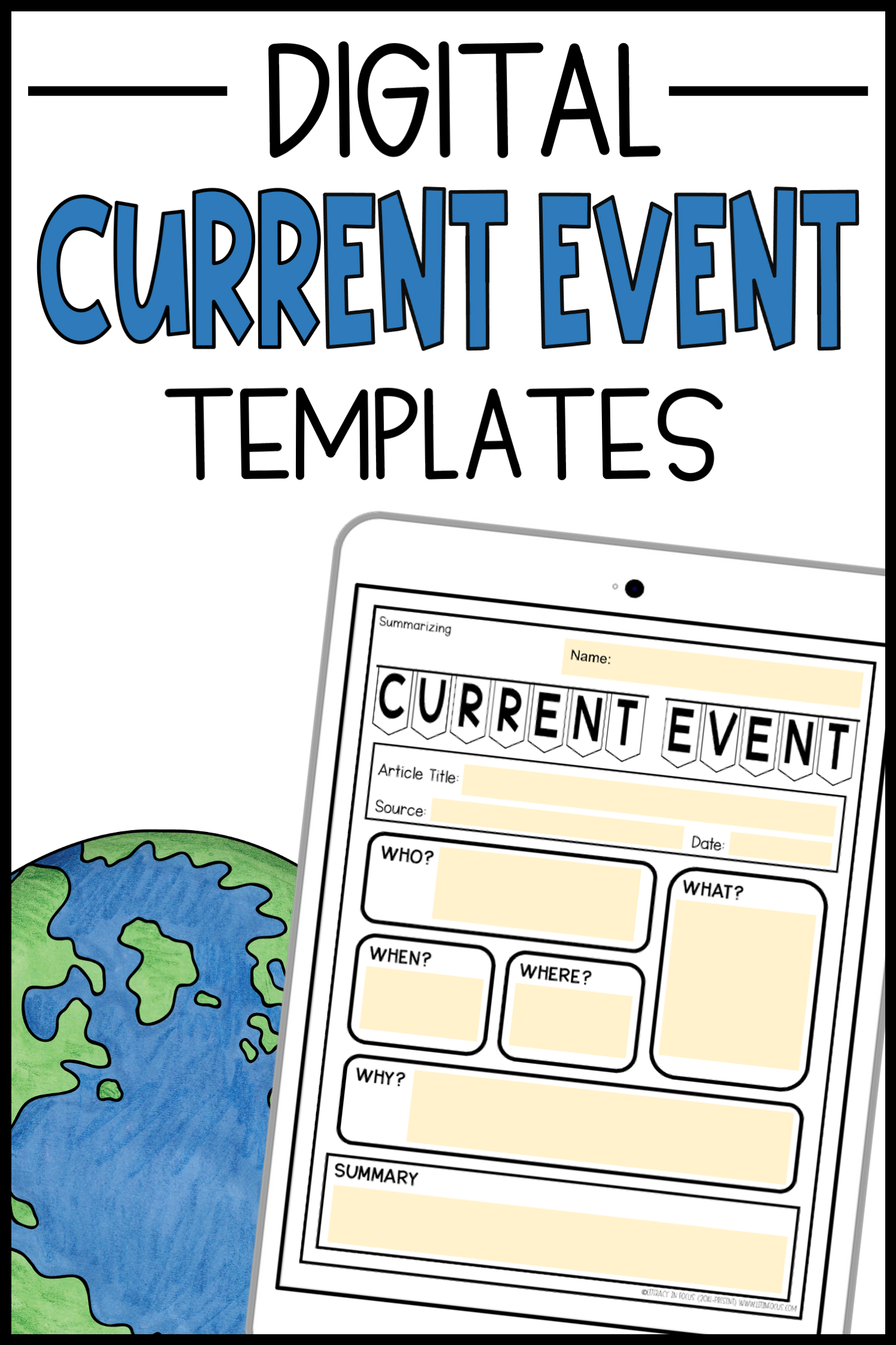 Current Event Templates And Worksheets In