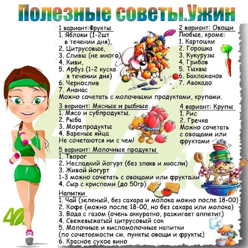 Полезные советы о диетах