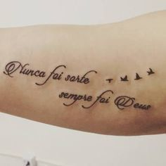 Nunca Foi Sorte Sempre Foi Deus Pesquisa Google Tatuagem