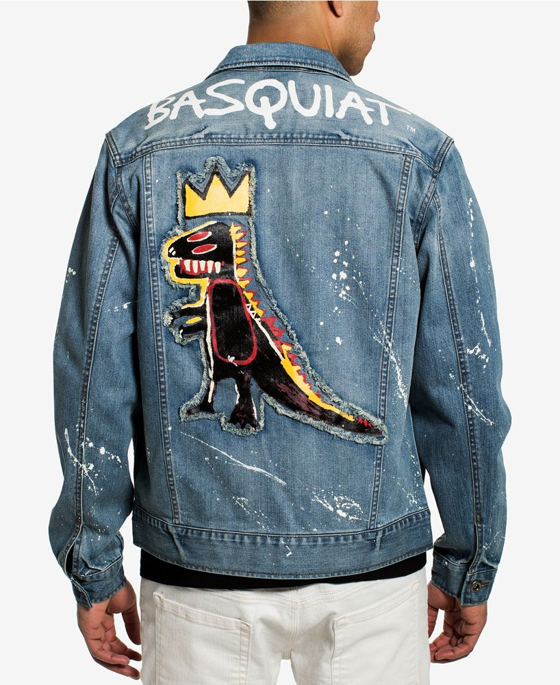 Sean John Launches Collaboration With Jean Michel Basquiat Artwork To Celebrate Its 20th Anniversary Denim Jacket Men Denim Jacket Painted Denim Jacket [ 1000 x 818 Pixel ]