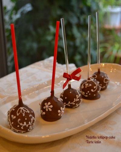 ヌテラのロリポップケーキレシピ付き ロリポップ Sweets