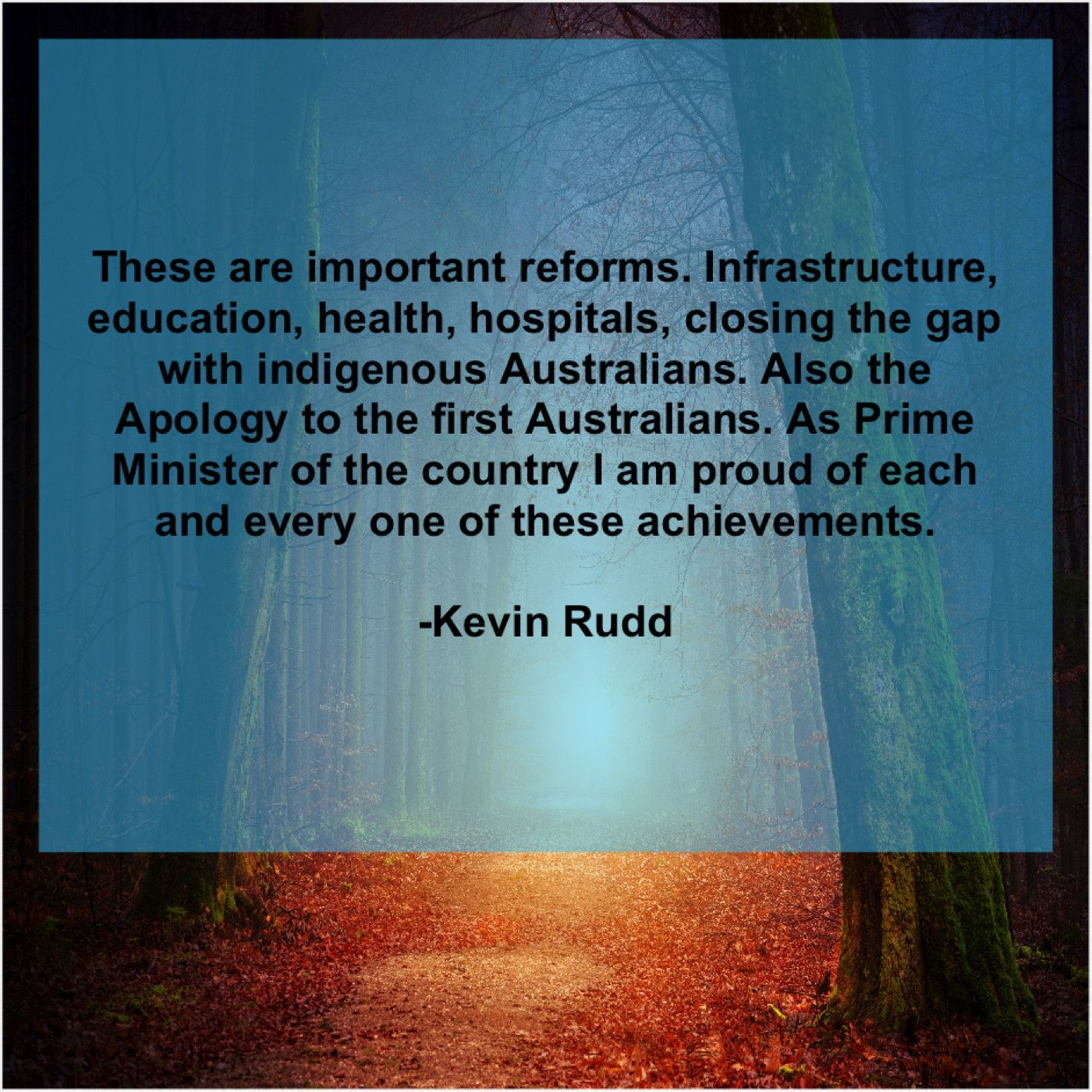 Kevin Rudd These Are Important Reforms Infrastructure Leo Buscaglia Josh Mcdowell Samuel Smiles