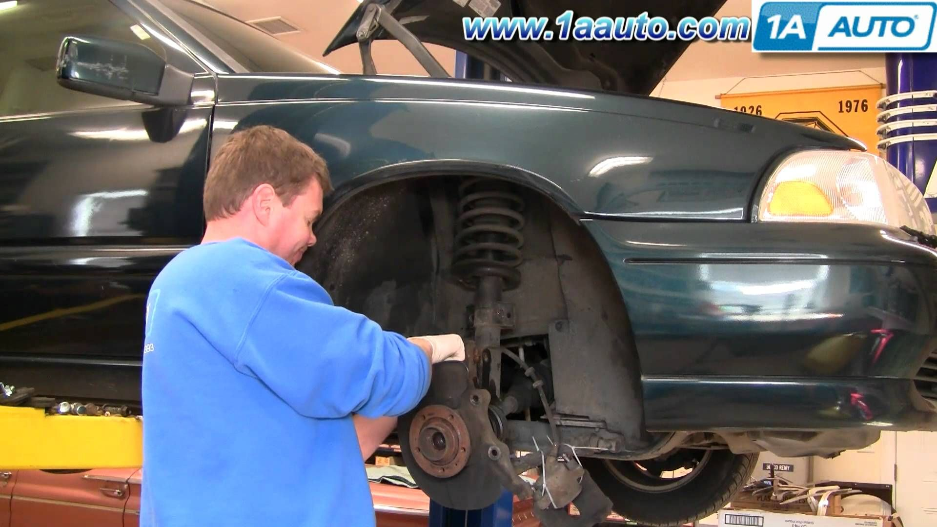 how to install replace front cv joint axle assembly volvo