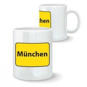 Motivtasse | Ortsschild München