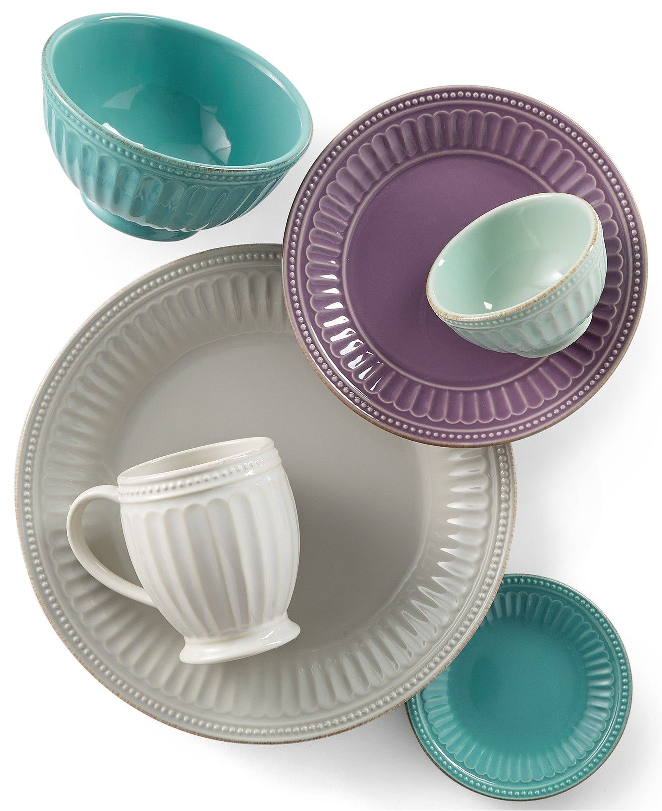 Macy Wedding Gifts: Lenox French Perle Groove Dinnerware Collection & Reviews