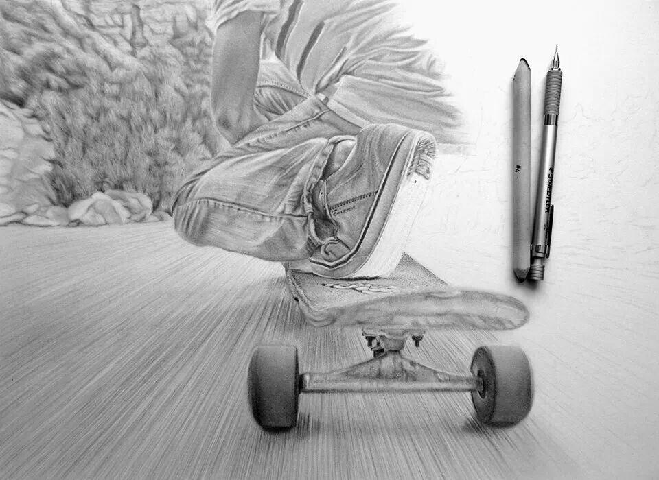 Картинки скейтеры карандашом