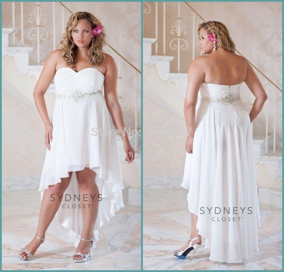 Find More Wedding Dresses Information About Plus Size Backless Summer Short Beach Weddi Short Wedding Dress Wedding Dresses Strapless Short Wedding Dress Beach [ 912 x 950 Pixel ]