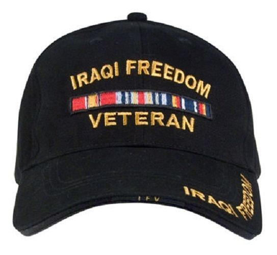 Operation Iraqi Freedom CAP Black Low Profile Adjustable Deluxe Rothco 9338