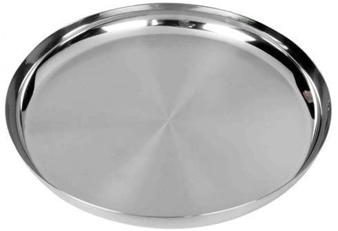 Amazon Com Stainless Steel Round Multipurpose Plates Dinner Plate Thali Tableware Dinnerware Food Snacks Plate Silve In 2020 Snack Plate Dinner Plates Dinnerware