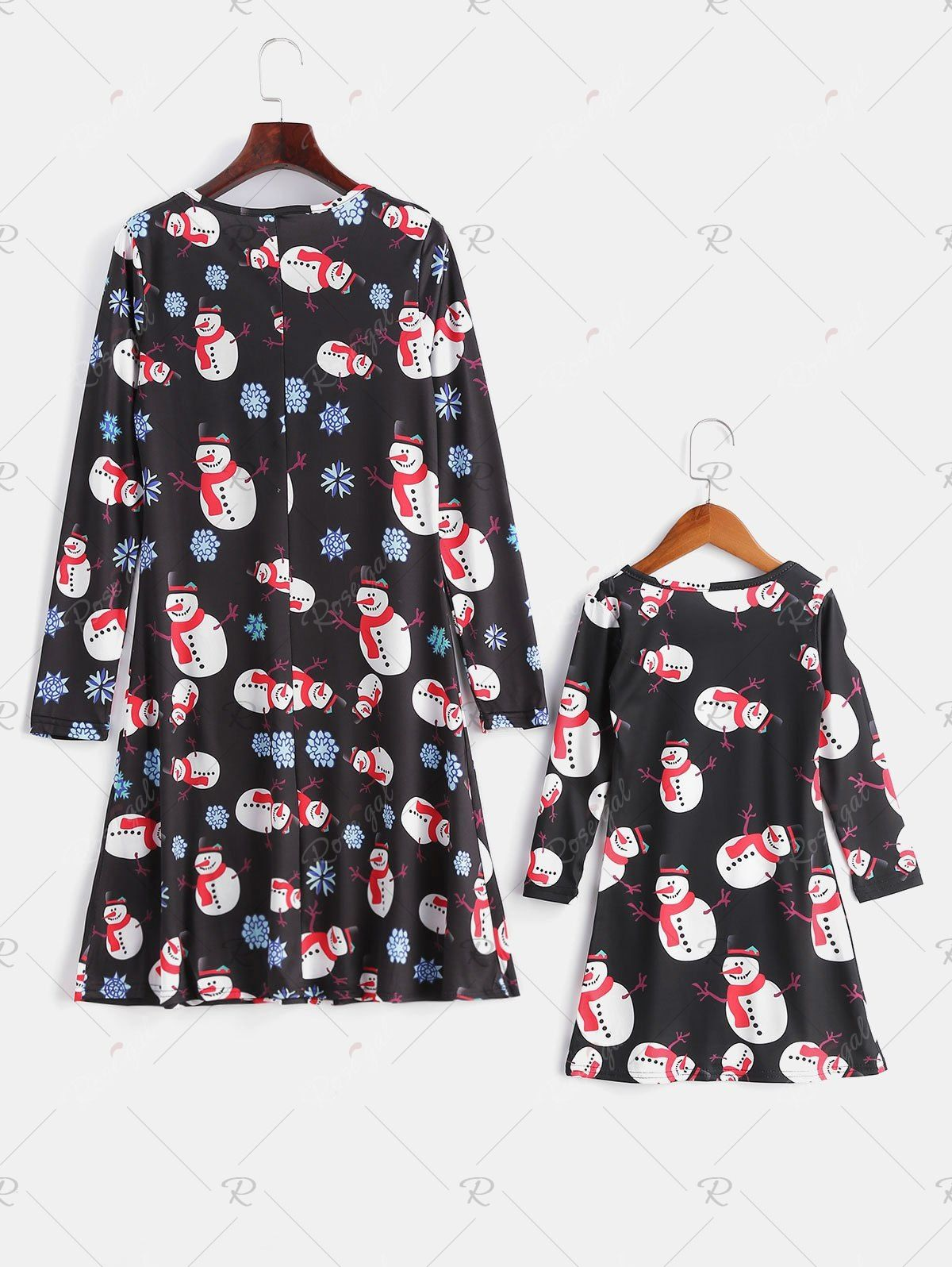 Family Christmas Pajamas Snowman Print Dress in 2020 (With
